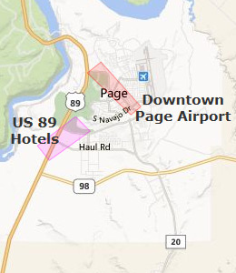 Map of Page, AZ hotels