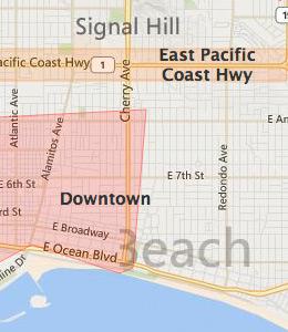 Map of Long Beach, CA Hotels | HotelGuides.com