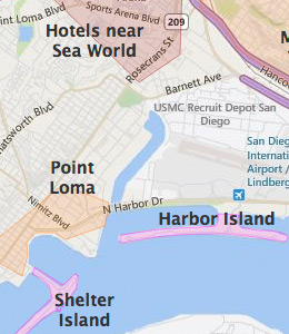 Shelter Island Hotels San Diego California Ca