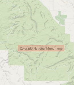 Map of Colorado National Monument, CO hotels