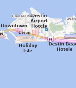 Map Of Destin Fl Hotels