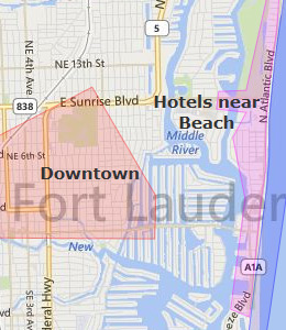 Map of Fort Lauderdale, FL hotels