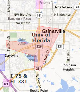 Map of Gainesville, FL Hotels   HotelGuides.com Gainesville Fl Maps on map leon county fl, map of fort white fl, map jackson fl, map jacksonville fl, map of florida, map myrtle beach fl, map greenville fl, map san antonio fl, map of jennings fl, map palm springs fl, map of olustee fl, map st. petersburg fl, map oxford ms, map florida fl, map i-75 florida exit numbers, map of ocklawaha fl, map bell fl, map of ft. walton beach fl, map sebring fl, map raleigh nc,