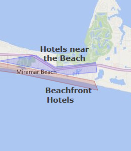 Map of Miramar Beach, FL hotels