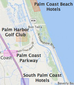 Map of Palm Coast, FL hotels