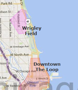 Map of Chicago, IL hotels