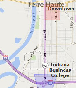 Map of Terre Haute, IN hotels