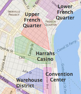 map of new orleans hotels bnhspinecom