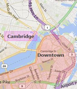 Map of Hotels near Boston Logan Airport - Boston ...