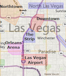 Map of Las Vegas, NV hotels