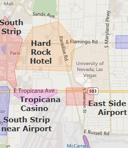 Map of Las Vegas Airport, NV hotels