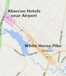Map of Absecon, NJ hotels
