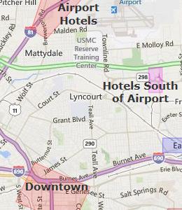 Downtown Syracuse Restaurant Map