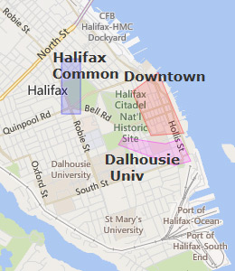 Map of Halifax, NS hotels