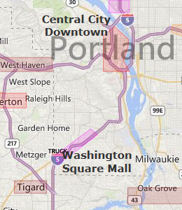 Map of Portland, OR hotels