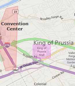 Search results map of king of prussia pa king of prussia pennsylvania hotels html autos weblog for Hilton garden inn newtown square