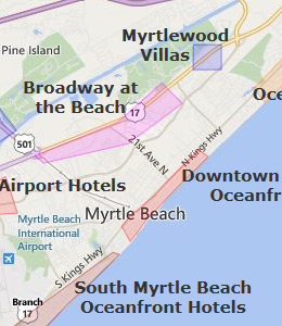 Myrtle Beach Boardwalk Hotels Map 2018 World S Best