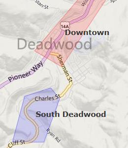 Deadwood casinos map