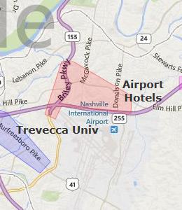 Map Of Hotels Near Broadway In Nashville Tn