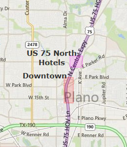 Map of Plano, TX hotels