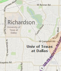 Map of Richardson, TX hotels