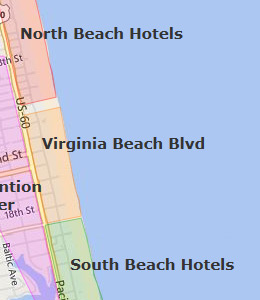 Virginia Beach Map Of Hotels The Best Beaches In World