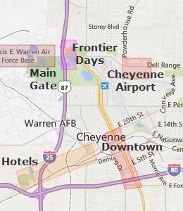cheyenne wy map bnhspinecom