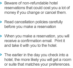 Important Hotel Tips