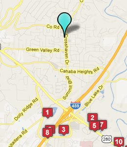 Map of Cahaba Heights, AL hotels