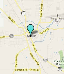 Map of Clanton, AL hotels