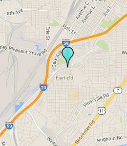 Map of Fairfield, AL hotels