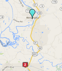 Map of Wetumpka, AL hotels