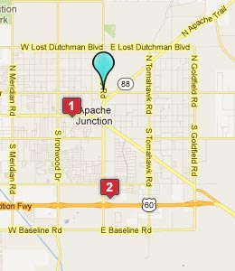 Map of Apache Junction, AZ hotels