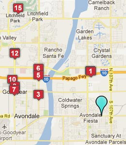 Map of Cashion, AZ hotels