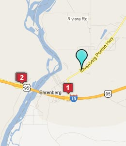 Map of Ehrenberg, AZ hotels