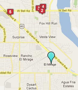 Map of El Mirage, AZ hotels