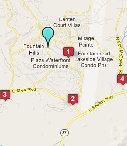 Map of Fountain Hills, AZ hotels