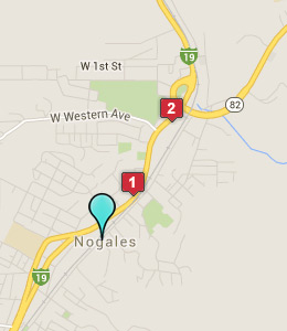 Map of Nogales, AZ hotels