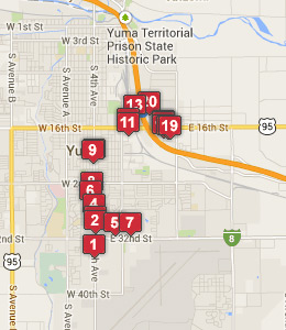 Map of Somerton, AZ hotels