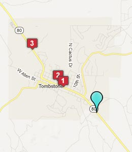Map of Tombstone, AZ hotels