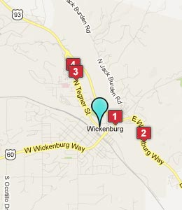 Map of Wickenburg, AZ hotels