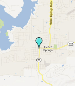 Map of Heber Springs, AR hotels