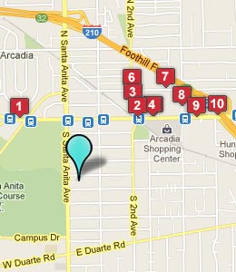 Map of Arcadia, CA hotels