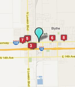 Map of Blythe, CA hotels