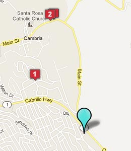 Map of Cambria, CA hotels