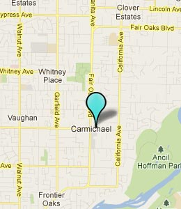 Map of Carmichael, CA hotels