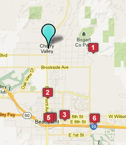 Map of Cherry Valley, CA hotels