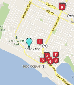 Map of Coronado, IN hotels