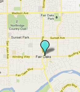 Map of Fair Oaks, CA hotels