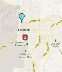 Map of Fallbrook, IN hotels